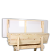 All of our hives come with a hinged roof that stays up during hive inspection. It can also be easily removed easily without any tools needed.