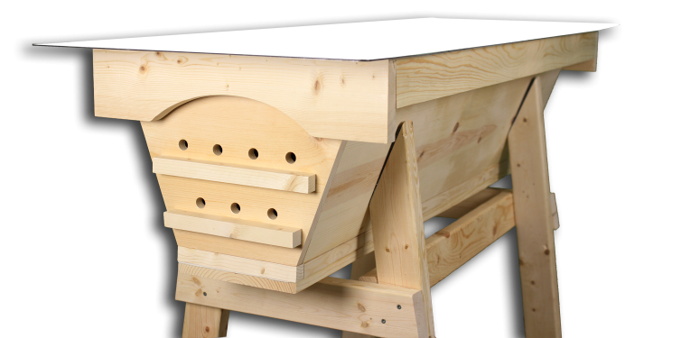 Unpainted top bar hive for sale lets you paint the hive your own color