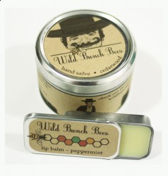 Hand salve and lip balm made from chemical-free beeswax