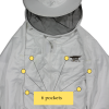 Bee jacket with 6 pockets to hold all of your various top bar beekeeping tools