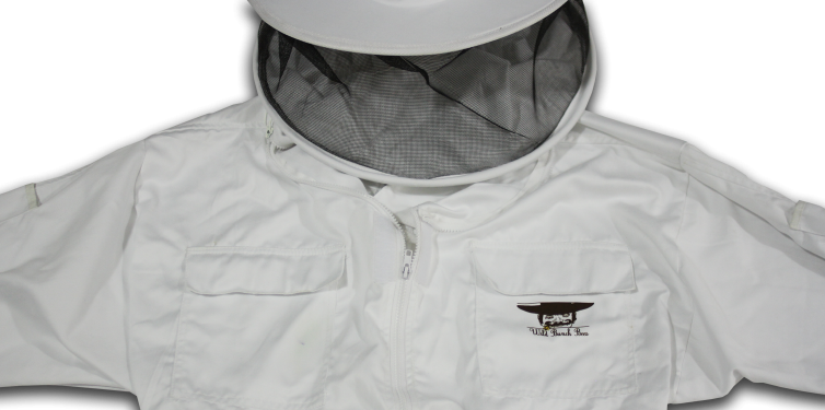 Beekeeping jacket for sale for the top bar beekeeper with our exclusive cowboy logo