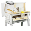Our beekeeping starter kit comes with hive, hive stand, jackets, gloves, smoker, brush, hive tool, and more