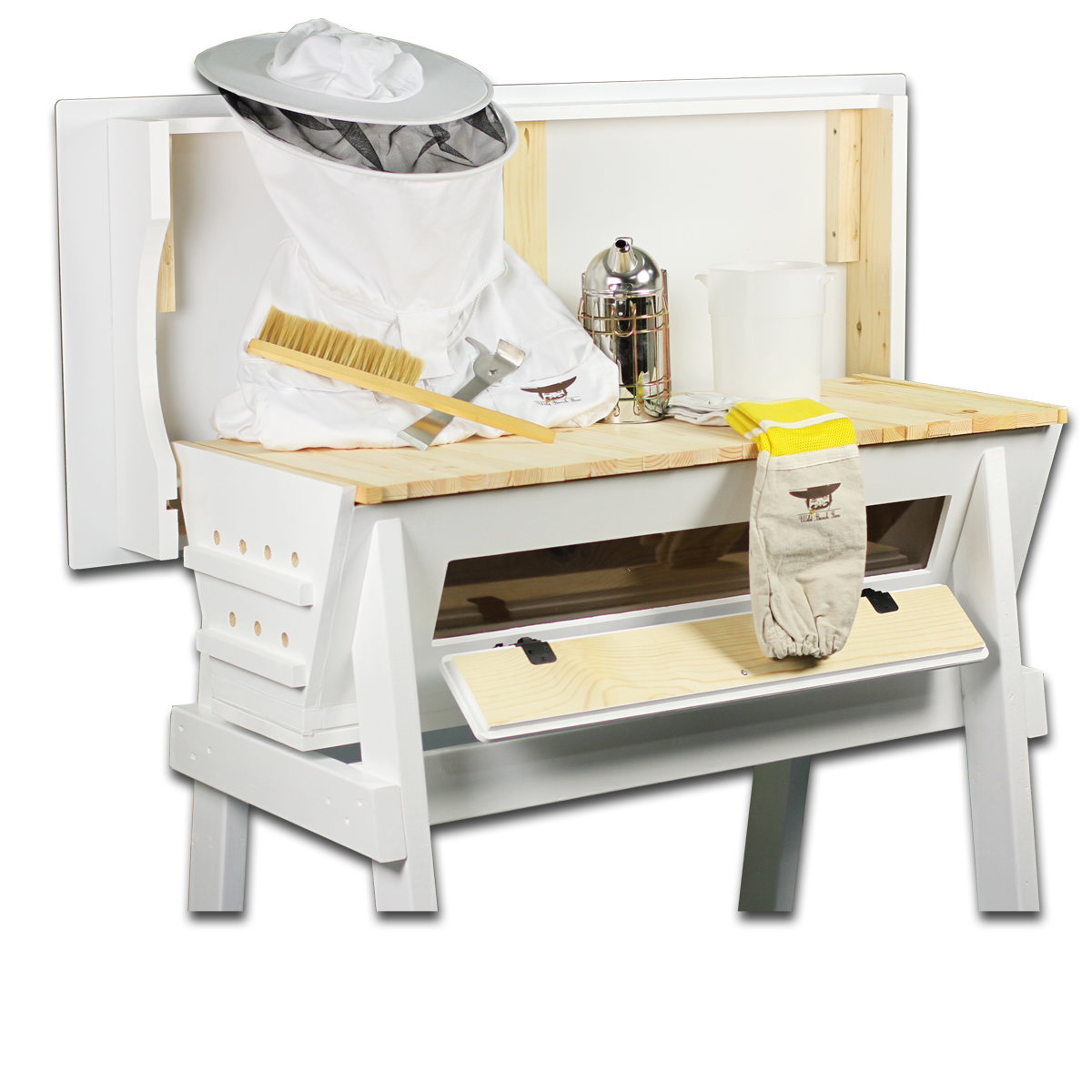 Our Beekeeping Starter Kit Comes With Hive, Hive Stand, Jackets, Gloves,  Smoker