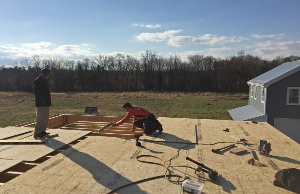 Glueing subfloor to joists to prevent squeaks